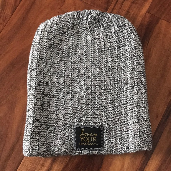 Love Your Melon Accessories - Love Your Melon black speckled gold foil  beanie 6fdb573a63f